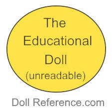 Harwin & Company doll mark button the educational doll