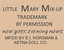 1919 Horsman Little Mary Mix-Up doll mark label