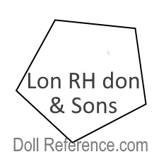 R. Hovenden & Sons doll mark Lon RH don  & Sons
