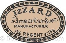 Izzard doll mark label Importer Manufacturer 136 Regent St. 136