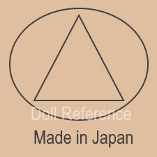 Japan doll mark triangle inside a circle Made in Japan