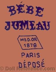 1878+ Jumeau doll shoe mark B�be Jumeau MED. OR 1878 Paris Depose