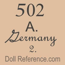 Franz Kiesewetter doll mark 502 A Germany 2.