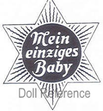 Kley & Hahn doll mark Meine Einziges Baby inside six pointed star