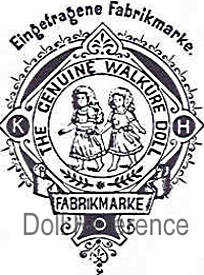 Kley & Hahn Doll Factory trademark KH walkure