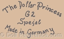 Kley & Hahn doll mark The Dollar Princess 62 Spezial Made in Germany