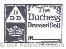Kohnstam doll mark DDD The Duchess Dressed Doll
