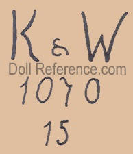 Konig & Wernicke doll mark K & W 1070 15
