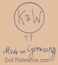 Konig & Wernicke doll mark K & W 11 Made in Germany