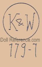 Konig & Wernicke doll mark K & W 179 - 7