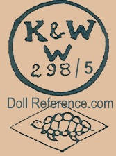 Konig & Wernicke doll mark K & WW 298 / 5 turtle symbol