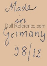 Konig & Wernicke doll mark Made in Germany 98 / 12