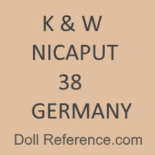Konig & Wernicke doll mark K & W Nicaput 38 Germany
