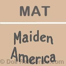 Maiden America Toy doll mark MAT