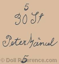 Peter Mancel doll mark 30 Jt   Peter Mancel 5