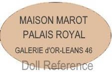 Jean Henry Marot doll mark label Maison Marot Palais Royal Galerie d'Or-Leans 46