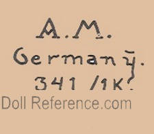 Marseille doll mark AM Germany 341 / 1K