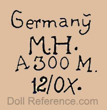 Marseille doll mark Germany M.H. A 300 M 12/0X