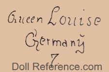 Marseille doll mark Queen Louise Germany