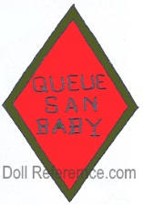 Morimura doll mark Queue San Baby label