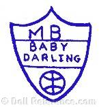 Morimura doll mark MB Baby Darling