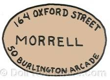 Morrell doll mark 164 Oxford Street London