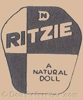 Natural Doll Co Inc. doll mark label Ritzie or Chubby
