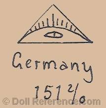 Ohlhaver doll mark symbol of a pyramid with an eye 151