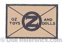 Oz Toys and Dolls doll mark