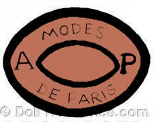 Achille Pannier doll mark AP Modes De Paris