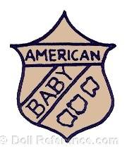 Petri & Blum doll mark American Baby on a shield
