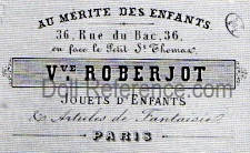 Vve. Roberjot doll shop Au Mérite des Enfants label