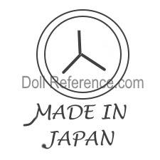 Maruyama Toki Yamashiro Ryuhei doll mark double circle with upside down peace sign, Made in Japan