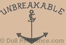 Philipp Samhammer & Lambert doll mark Unbreakable SL with anchor symbol