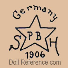 Schoenau & Hoffmeister doll mark Germany S star symbol PB inside H 1906