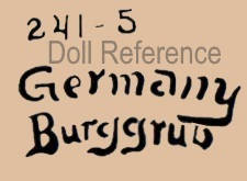 Schoenau & Hoffmeister doll mark 241 - 5 Germany Bruggrub