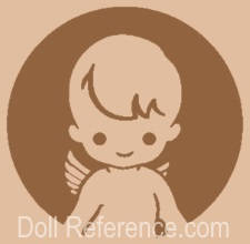 Shiba Company doll mark symbol boy inside circle