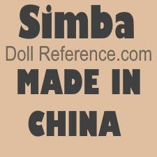 Simba Toys doll mark SIMBA, Made in China