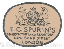E. C. Spurin Toy Warehouse doll mark New Bond Street London