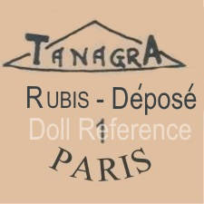 Tanagra Doll Factory doll mark Tanagra Rubis-Depose Paris