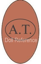 Thuillier doll shoe mark A.T. inside an oval