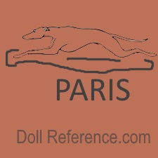 Thuillier doll shoe mark symbol of a greyhound dog running Paris