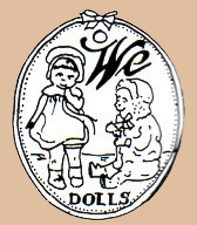 Toy Products Manufacturing Company doll mark We Dolls two dolls symbol