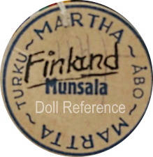 Martha Turku doll mark Martha Martta Finland