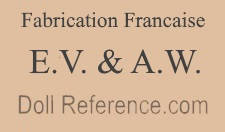 Villard & Weill doll furniture mark Fabrication Francaise E.V. & A.W