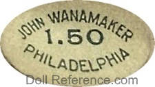 John Wannamaker doll mark label