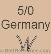 Ernst Wehncke doll mark 5/0 Germany WW