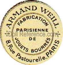 Armand Weill mark label 8 Rue Pastourelle, Paris