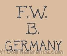 Federike Welsch doll mark FWB
