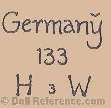 Hugo Wiegand doll mark HW 133